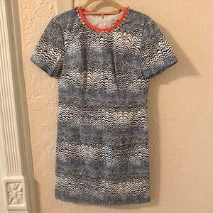 Trina Turk Blue Jewel Neckline Dress Size 8